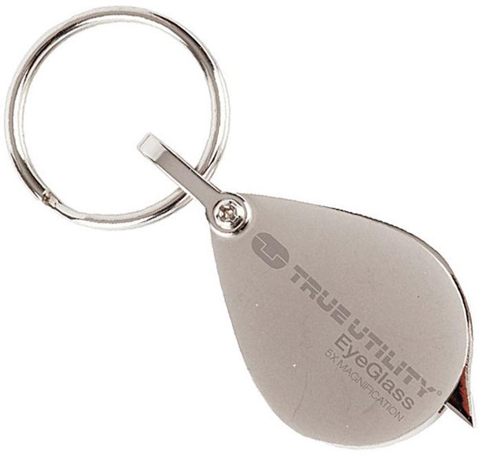 Брелок True Utility EyeGlassTU234Стильный брелок со встроенной лупой с пятикратным увеличением. Стекло оснащено покрытием против царапин. Корпус брелка выполнен из легированной стали.