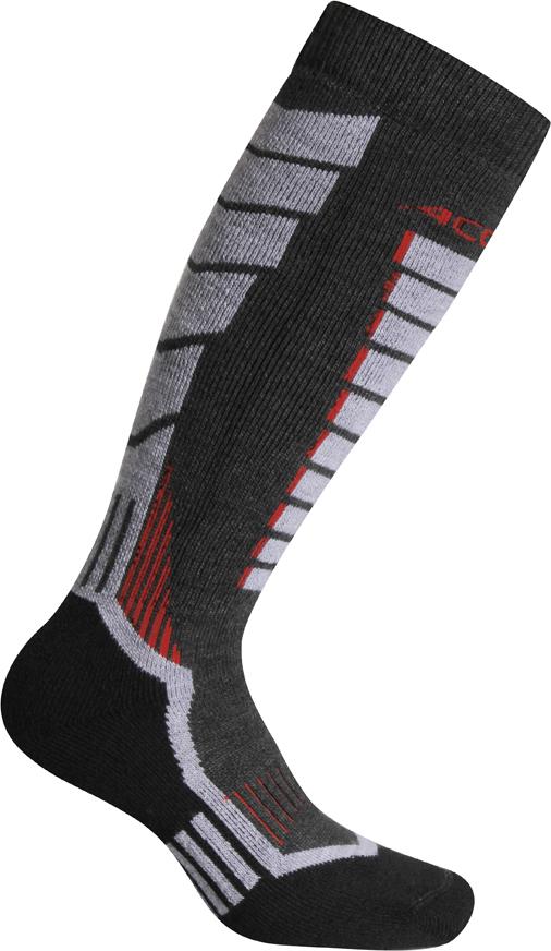 Носки горнолыжные Accapi Snowboard, цвет: светло-серый. 1601_966. Размер 37/391601_966Сноубордические носки с усиленной поддержкой икроножной мышцы отлично подходят для спортивного катания. Мягкая резинка по верху носка не сжимает ногу и не дает ощущения сдавливания даже при длительном использовании.Бесшовная конструкция исключает натирание во время занятий спортом.