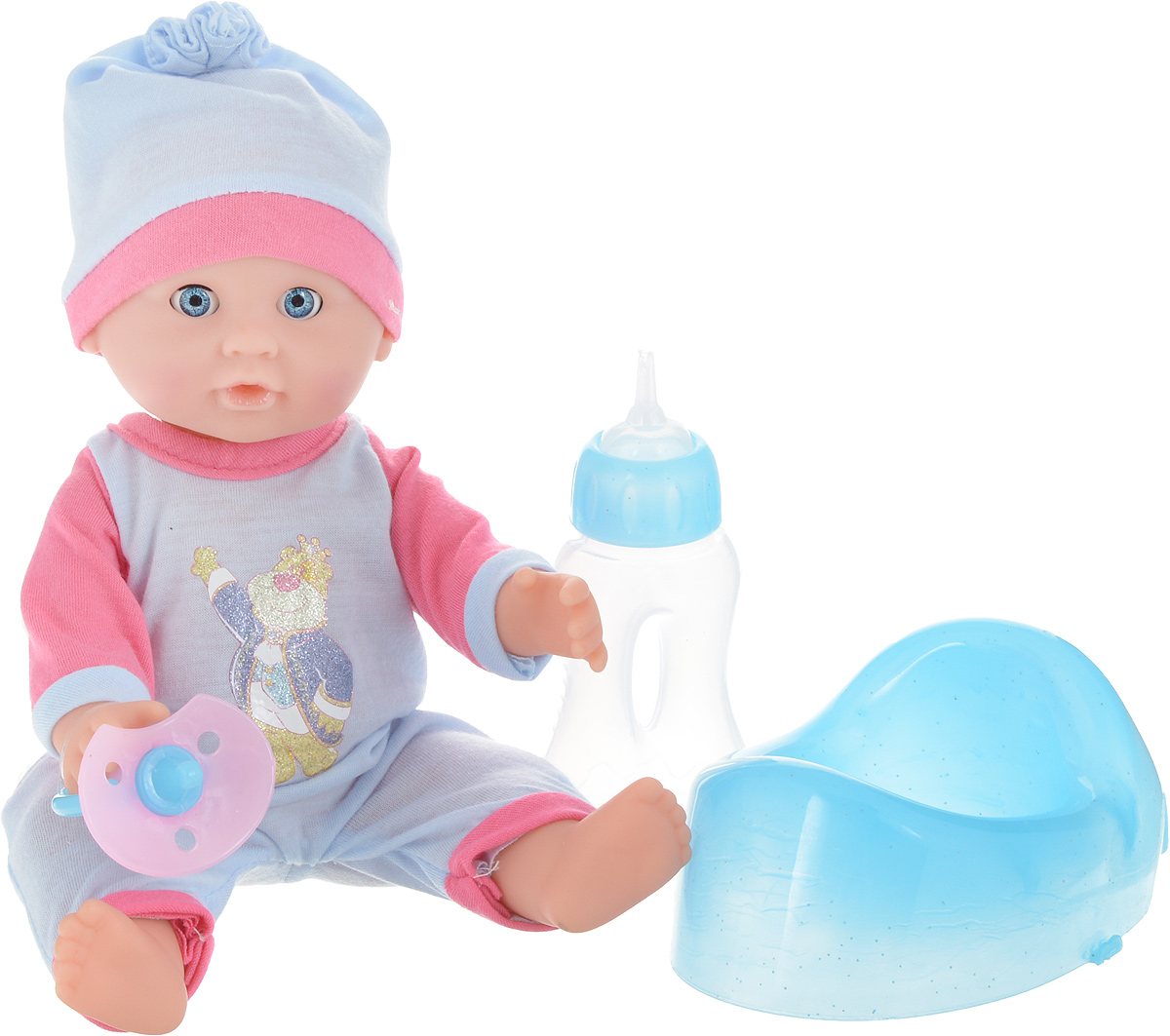 Lisa Jane Пупс с горшком цвет голубой розовый 25 см 59463 сумки lisa jane сумка детская