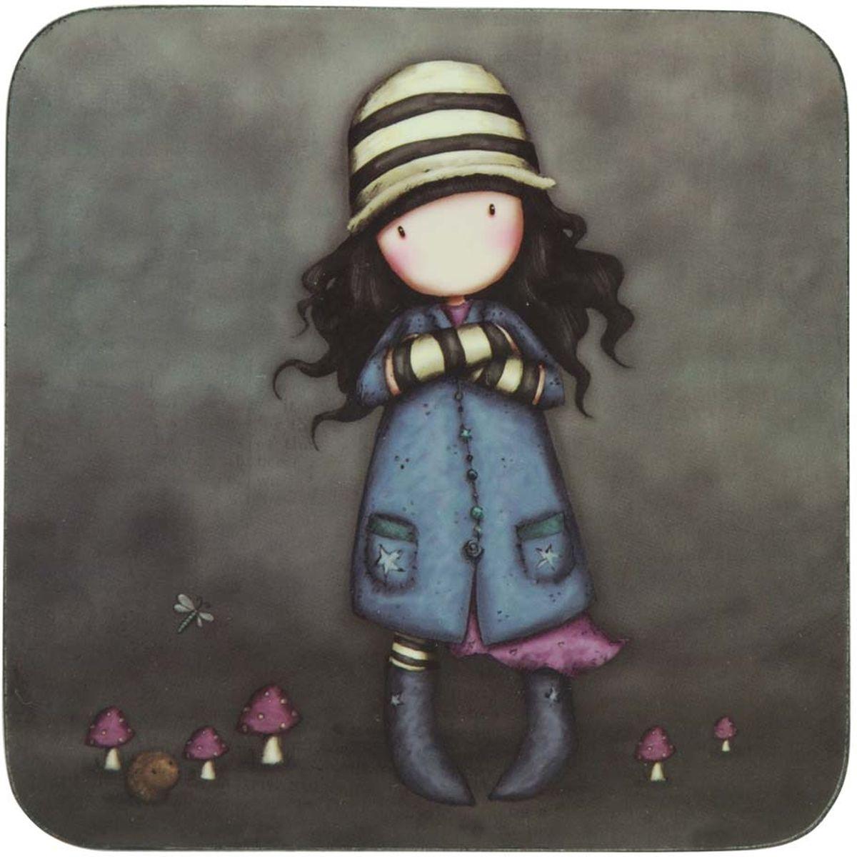 Подставка под горячее Santoro London Toadstools, цвет: серый, голубой, 10 х 10 см