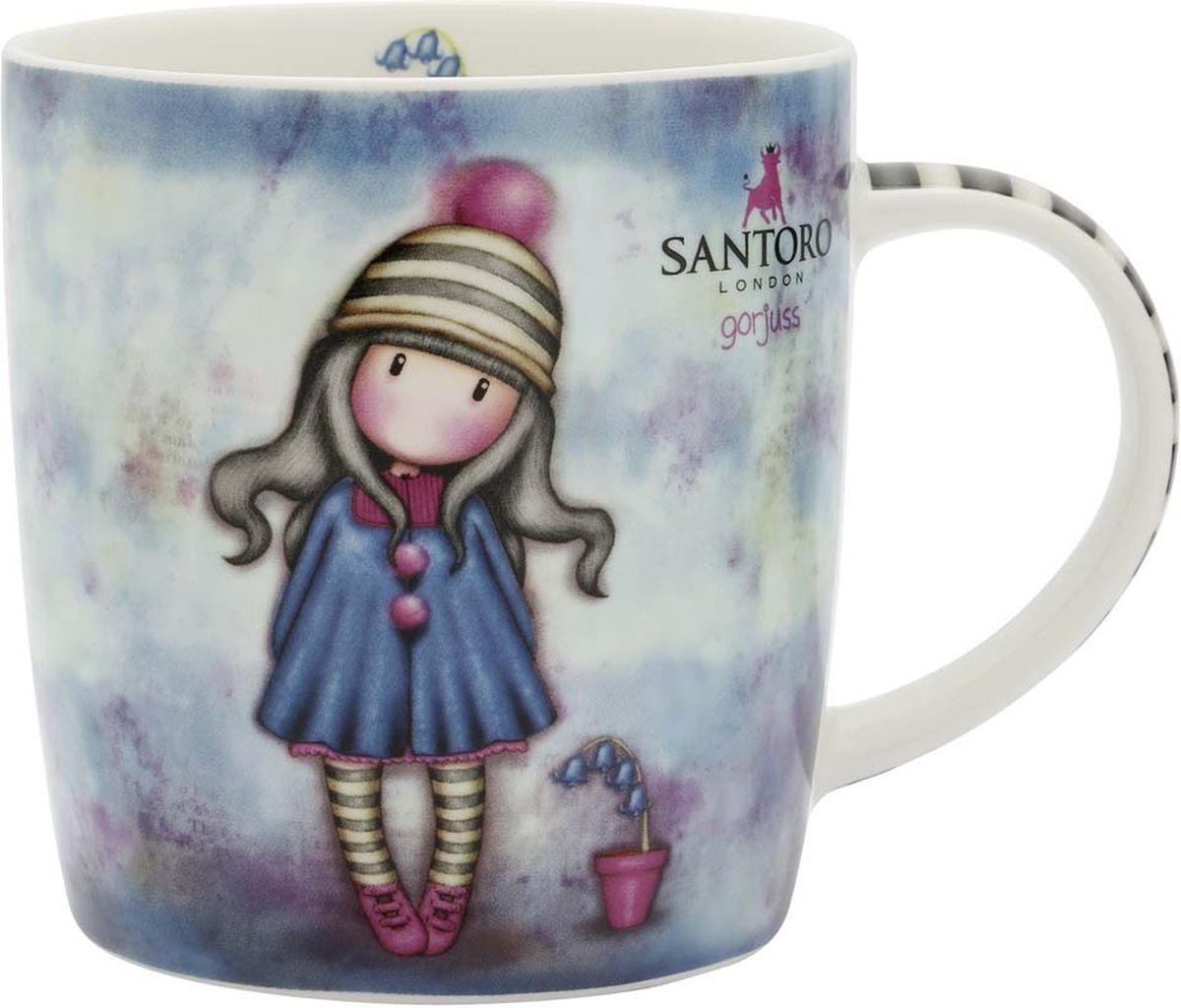Кружка Santoro London Pom-Pom, цвет: синий, 330 мл320GJ16Настало время настоящего английского чаепития с Gorjuss! Оригинальная кружка для девочек — подарок в британском стиле для любительниц чая, какао и горячего шоколада. Сказочная кружка Santoro London Pom-Pom изготовлена из костяного фарфора.Подходит для использования в посудомоечной машине и микроволновке. Поставляется в подарочной упаковке.