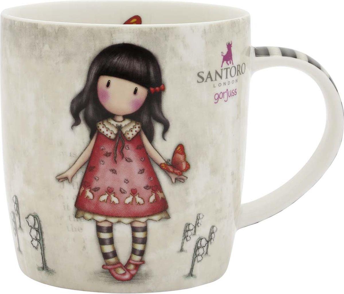 Кружка Santoro London Time to Fly, цвет: бежевый, розовый, 330 мл320GJ17Сказочная кружка Santoro London из костяного фарфора в подарочной упаковке. Настало время настоящего английского чаепития с Gorjuss! Оригинальная кружка для девочек — подарок в британском стиле для любительниц чая, какао и горячего шоколада. Подходит для использования в посудомоечной машине и микроволновке.