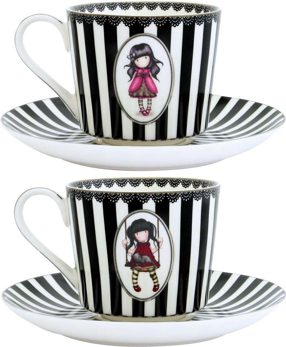 Набор чайный Santoro London Ladybird/Ruby, цвет: белый, черный, 250 мл, 4 предмета642GJ01Этот классический и элегантный набор от Santoro сделает любое чаепитие особенным!В комплекте 2 чашки и 2 блюдца из фарфора, украшенные очаровательной девочкой Gorjuss.Набор поставляется в подарочной упаковке.Размеры чашек: 8 см в высоту, 11 см в ширину.Размеры блюдец: диаметр 11 см.Не подходит для микроволновой печи и посудомоечной машины.
