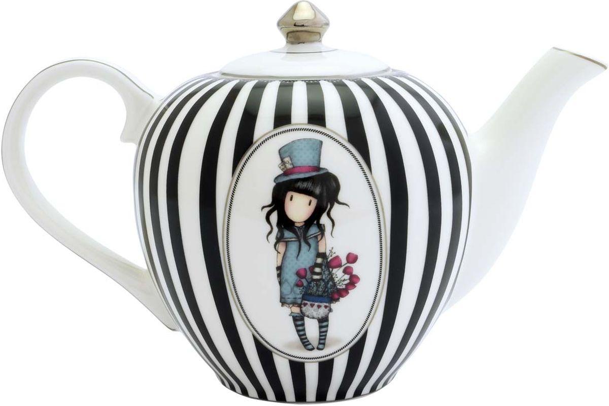 Чайник заварочный Santoro London The Hatter, цвет: белый, черный, 800 мл643GJ01Красивый и яркий чайник, который идеально подойдет для любого дома и сделает ваши чаепития особенными!Изготовлен из костяного фарфора, поставляется в подарочной упаковке.Идеальный подарок для ваших родных и близких!Объем 800 мл.Не подходит для микроволновой печи или посудомоечной машины.
