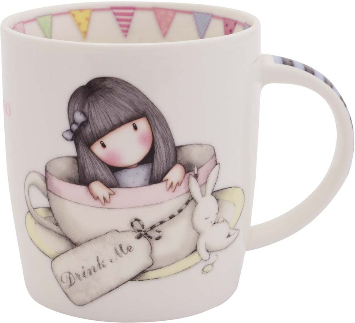 Кружка Santoro London Sweet Tea, цвет: слоновая кость, 250 млMUG028Сказочная кружка Santoro London из костяного фарфора в подарочной упаковке. Настало время настоящего английского чаепития с Gorjuss! Оригинальная кружка для девочек — подарок в британском стиле для любительниц чая, какао и горячего шоколада. Подходит для использования в посудомоечной машине и микроволновке.