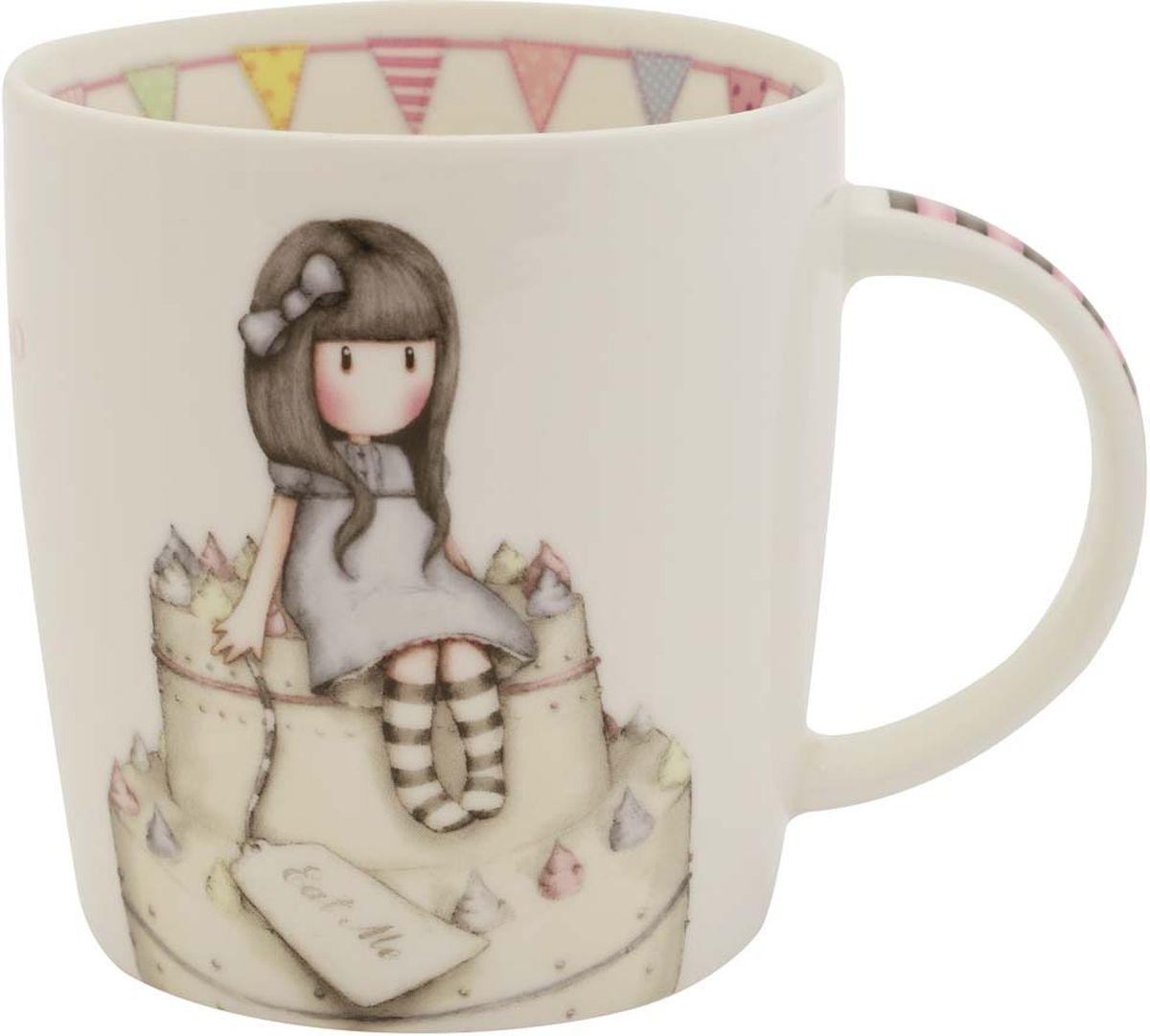 Кружка Santoro London Sweet Cake, цвет: слоновая кость, 250 млMUG029Сказочная кружка Santoro London из костяного фарфора в подарочной упаковке. Настало время настоящего английского чаепития с Gorjuss! Оригинальная кружка для девочек — подарок в британском стиле для любительниц чая, какао и горячего шоколада. Подходит для использования в посудомоечной машине и микроволновке.