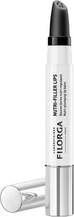 Filorga Nutri Filler Lips Питательный бальзам для губ, 4 г1V1420Питательный бальзам Нутри-филлер быстро возвращает комфорт и естественный блеск губ. Придает объем, восстанавливая четкость контура, смягчает сухую кожу губ и дарит им естественный блеск. Комплекс обогащенных масел и восстанавливающего масла карите питает, защищает и регенерирует поврежденную кожу губ. Пептид, стимулирующий выработку коллагена, разглаживает кожу губ, восстанавливает естественный объем и четкость контура губ. Мезотерапевтический комплекс NCTF в сочетании с ревитализирующим активным веществом мгновенно восстанавливает блеск и естественный цвет губ. При регулярном применении ваши губки станут более мягкими, объемными и красивыми надолго.