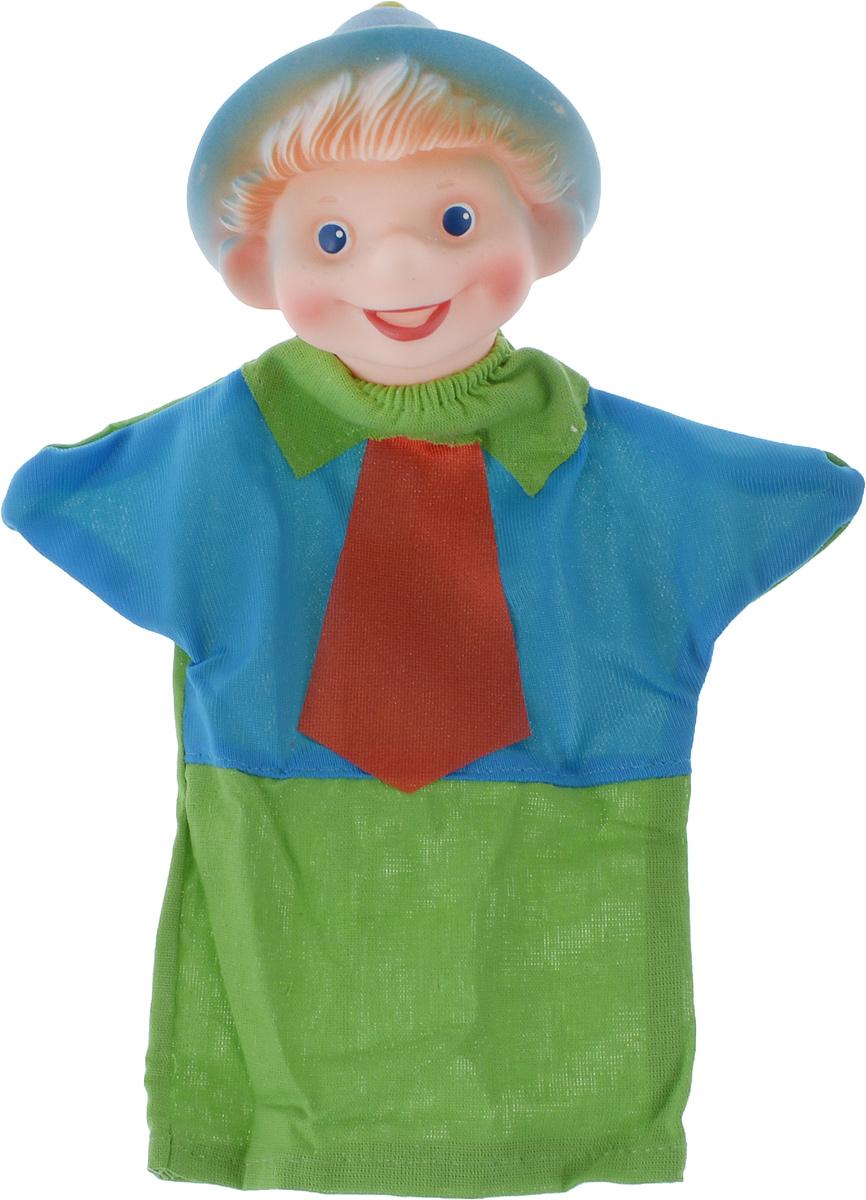 Sima-land Мягкая игрушка на руку Незнайка цвет зеленый красный синий чайник заварочный sima land риштан цвет синий белый зеленый 400 мл