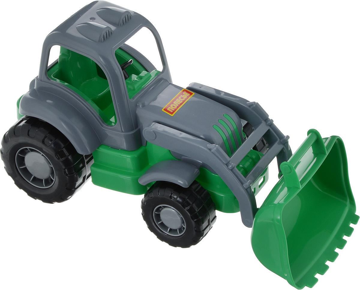 Полесье Трактор-погрузчик Крепыш цвет серый бу двигатель на трактор