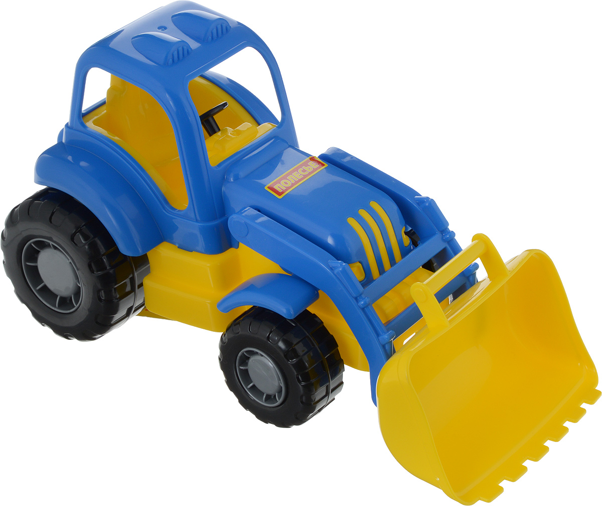 Полесье Трактор-погрузчик Крепыш цвет синий бу двигатель на трактор