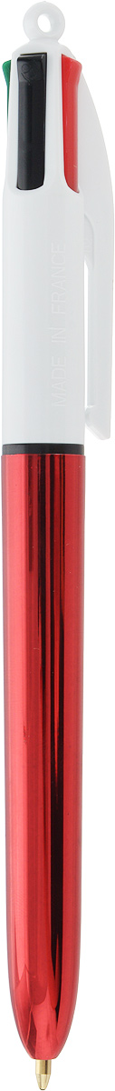 BIC Ручка шариковая 4 Colours Shine Новогодняя цвет корпуса красныйB943227_красныйАвтоматическая шариковая ручка Bic 4 Colours Shine. Новогодняя - это четырехцветная ручка, позволяющая писать любым из четырех цветов: розовым, голубым, зеленым, фиолетовым.Удобный автоматический механизм, утолщенный корпус.