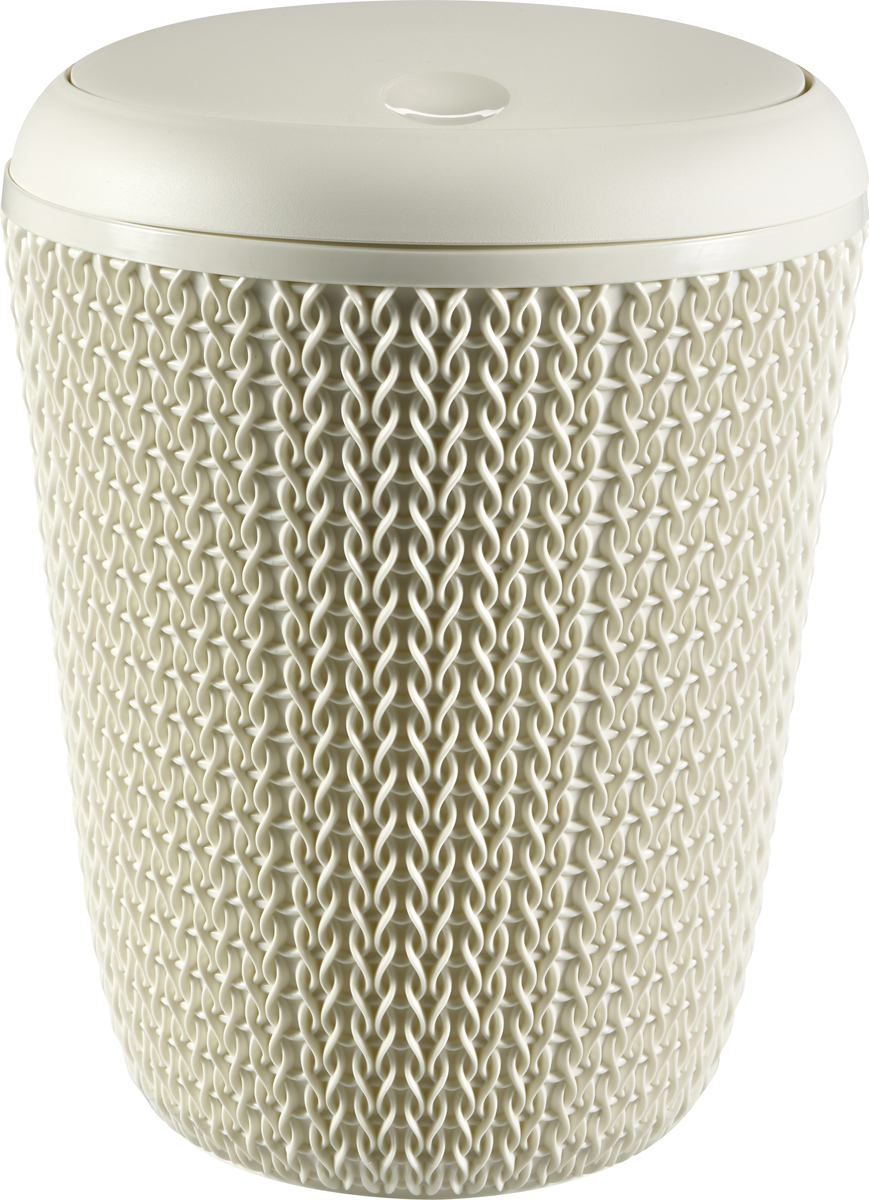 Контейнер для мусора Curver Knit, цвет: белый, 6 л00777-X64-00Пластиковый контейнер для мусора в ванной комнате с декоративнымплетением придаст интерьеру атмосферу загородного уюта.