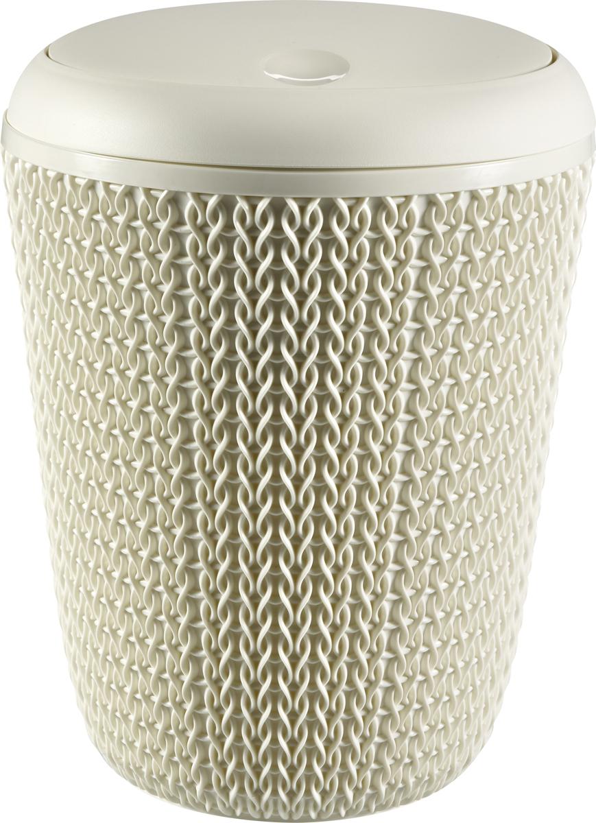 Контейнер для мусора Curver Knit, цвет: белый, 6 л пакеты для мусора curver 130л 10шт 1115293