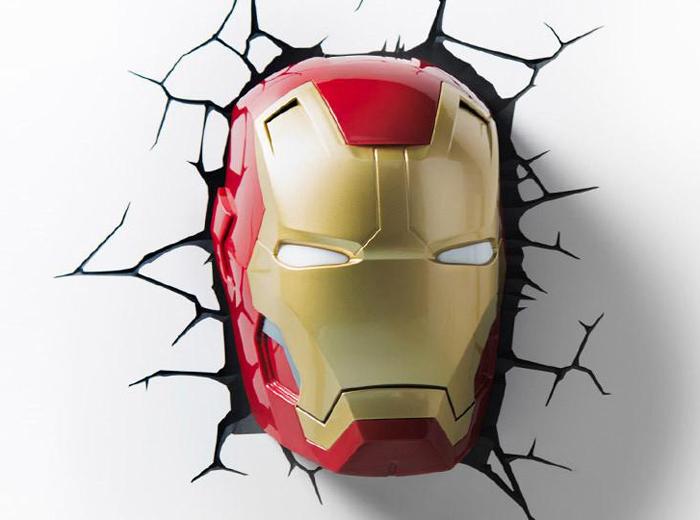 3DLightFX Настенный 3D cветильник Classic Iron Man Mask светильник декоративный 3dlightfx sw darth vader saber 3d