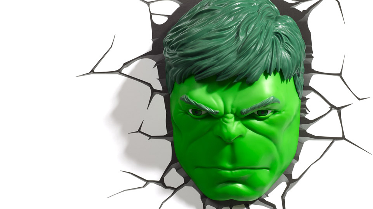3DLightFX Настенный 3D cветильник Hulk Face 3d cat face decorative throw pillow for couch