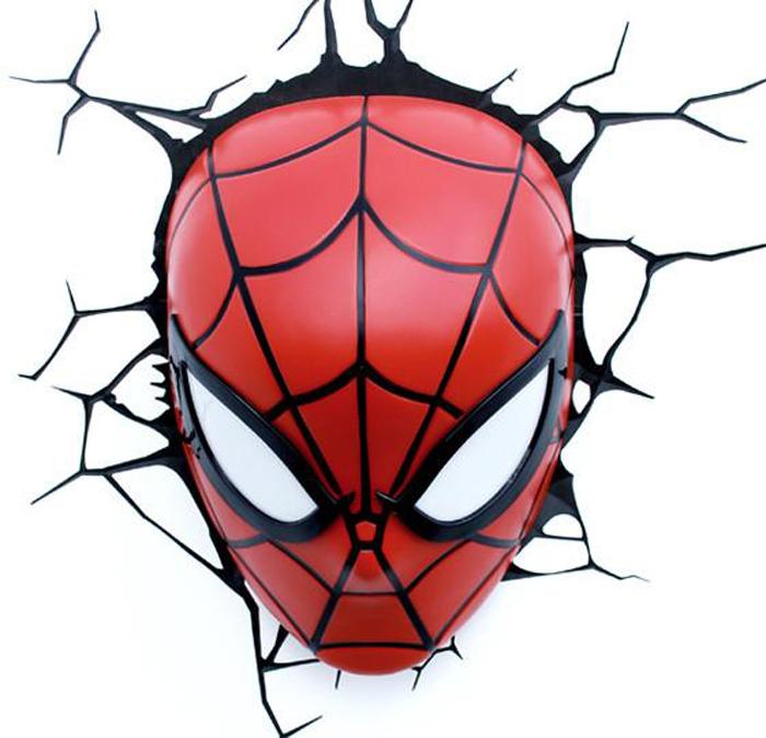 3DLightFX Настенный 3D cветильник Spiderman Mask портативная беспроводная музыкальная колонка cw cubic box цвет оранжевый карабин и usb кабель в комплекте