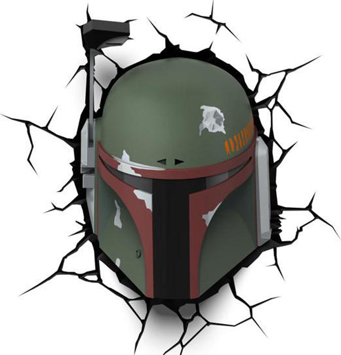 3DLightFX Настенный 3D cветильник Star Wars Boba Fett светильник декоративный 3dlightfx sw darth vader saber 3d