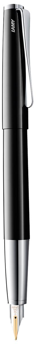 Lamy Ручка перьевая Studio цвет корпуса черный толщина F lamy joy комплект ручка перьевая 015 запасные перья картридж цвет корпуса черный красный