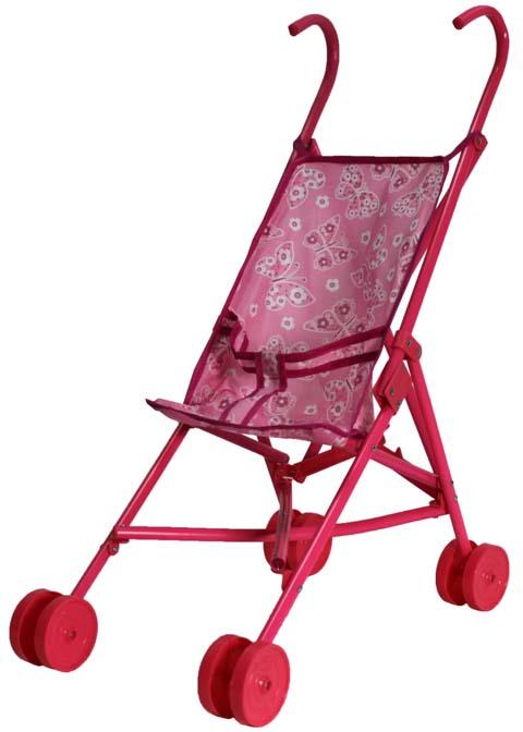 1toy Транспорт для кукол Коляска цвет розовый Т52254 1toy транспорт для кукол коляска цвет синий