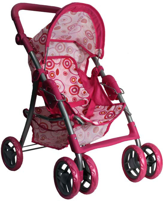 1TOY Коляска для кукол цвет розовый Т55641 1toy 1toy карета с лошадью для кукол 1 местн т53235