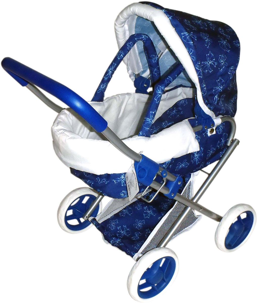 1toy Транспорт для кукол Коляска-люлька цвет синий Т57326 коляска люлька для кукол синий белый принтт57326