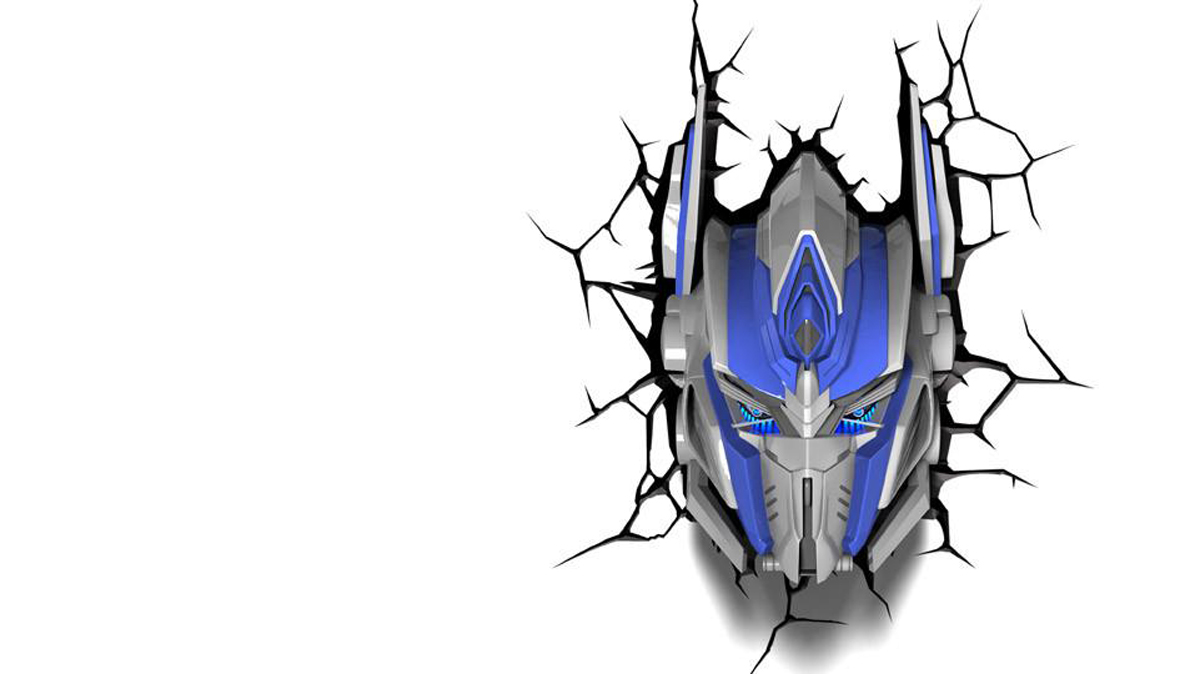 3DLightFX Настенный 3D cветильник TRNSFMR Optimus Prime Mask 2018 news mu 3d metal puzzle tf optimus prime g1 megatron model ym l055 c diy 3d laser cut assemble jigsaw toys for audit