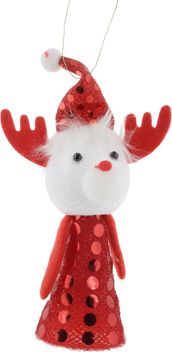 Sima-land Новогодняя игрушка-прыгун Олень цвет красный