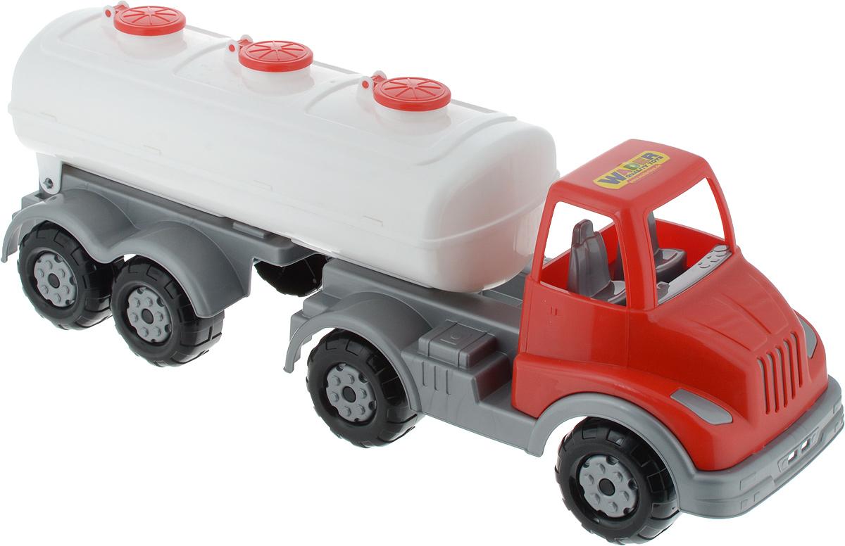Полесье Автомобиль Муромец с полуприцепом-цистерной цвет красный белый полесье автомобиль с цистерной мой первый грузовик 5441