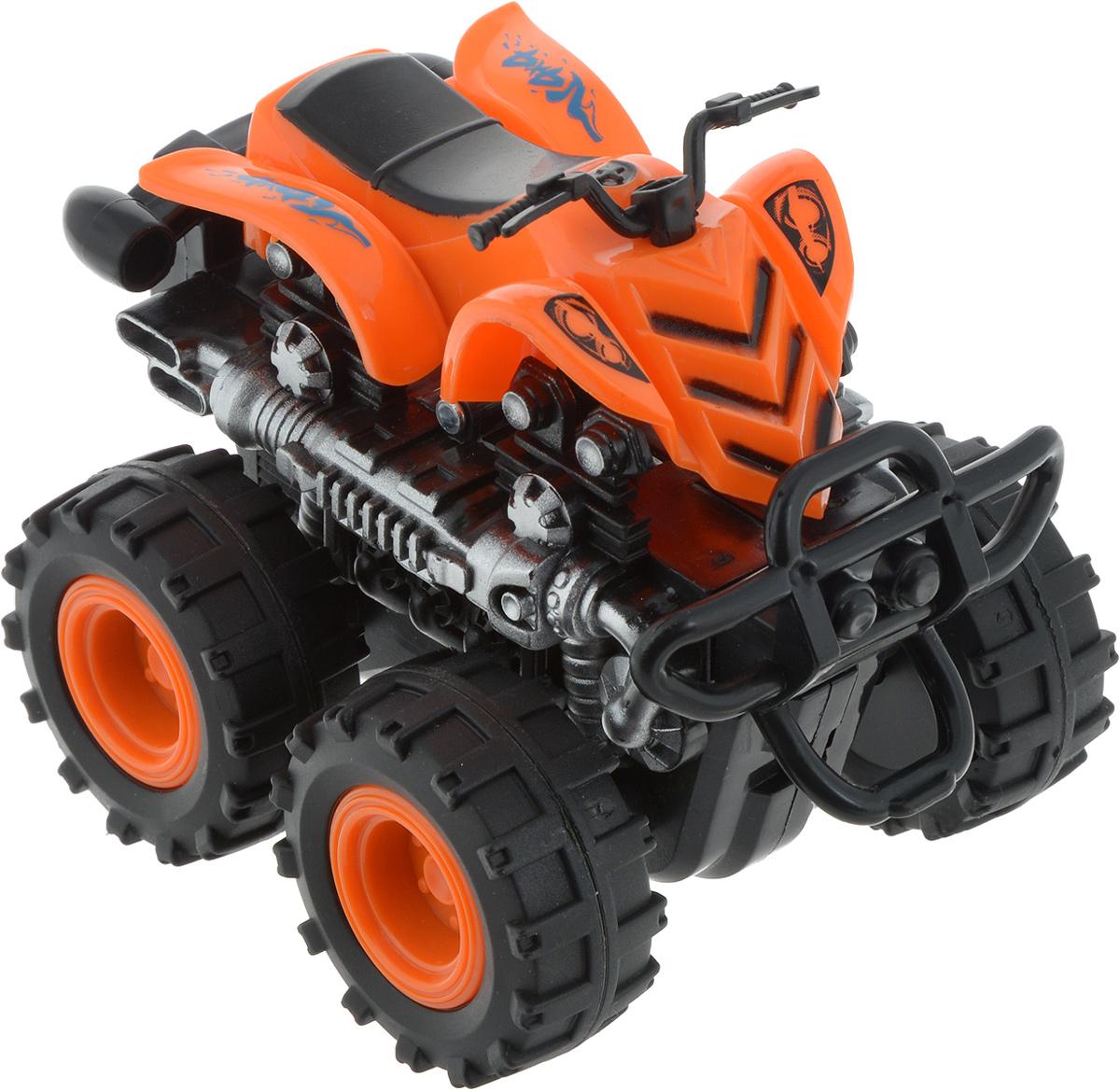 Big Motors Квадроцикл инерционный 4 WD цвет оранжевый инерционный самокат в запорожье