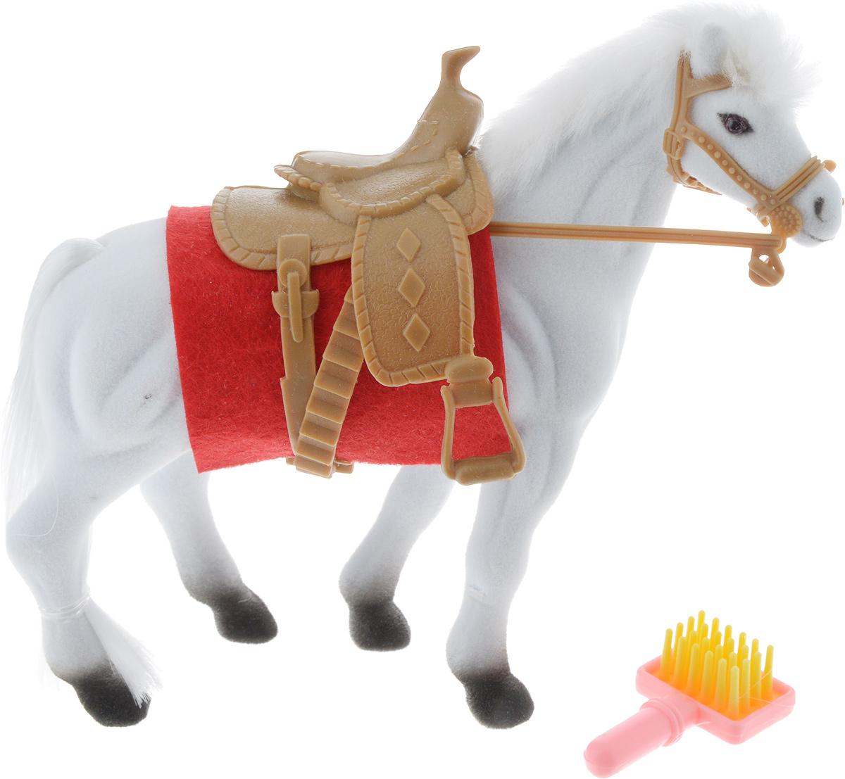 Играем вместе Фигурка Лошадь с аксессуарами цвет белый пегас играем вместе флокированное покрытие с аксессуароми играем вместе