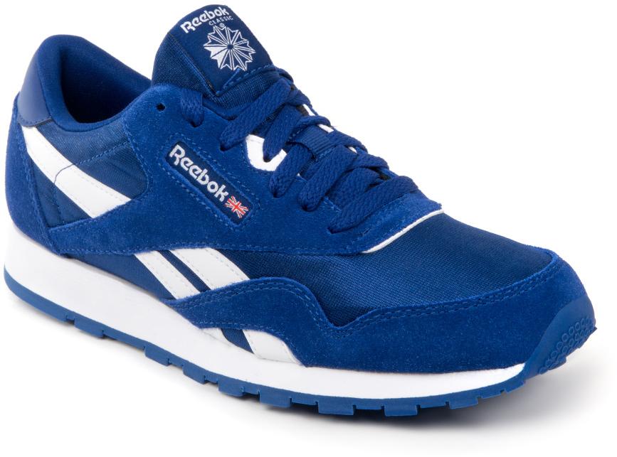 Кроссовки для мальчика Reebok CL Nylon, цвет: синий, белый. BS8674. Размер 38