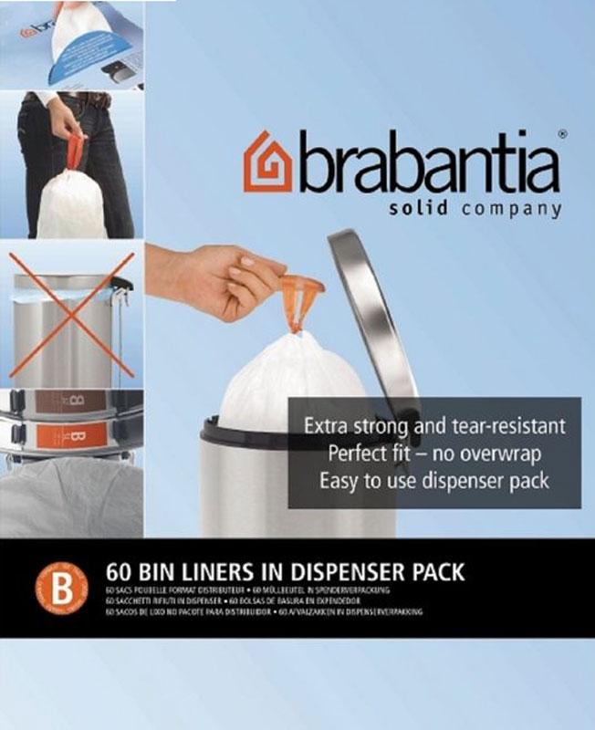 Мешки для мусора Brabantia, 5 л, 60 шт. 348969348969Удобно и быстро вкладываются и достаются из бака. Эстетичный вид – идеально подходят по размеру к мусорным бакам Brabantia, мешок не выступает наружу. Уникальная цветовая маркировка позволяет выбрать мешки нужного размера. Вентиляционные отверстия для удобства вкладывания в бак. Изготовлены из особо прочного полиэтилена (HDPE). Легко затягиваются и переносятся – специальная лента для стягивания горловины. Упаковка: 60 мешков в рулоне.Уважаемые клиенты!Обращаем ваше внимание на возможные изменения в дизайне упаковки. Качественные характеристики товара остаются неизменными. Поставка осуществляется в зависимости от наличия на складе.