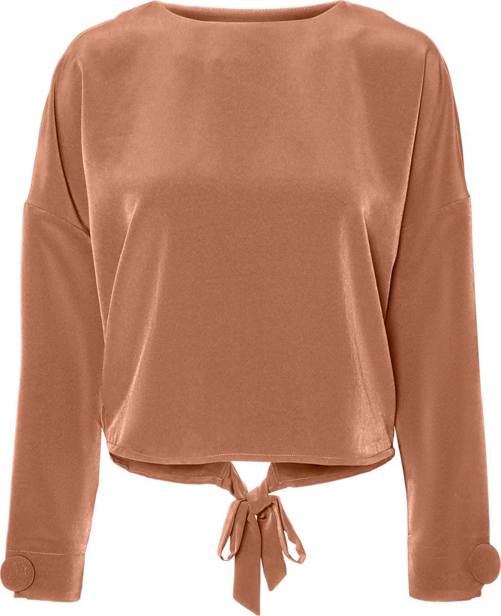 Блузка женская Vero Moda, цвет: коричневый. 10187780_Mocha Mousse. Размер 42/44 блузка женская vero moda цвет черный 10187780 black размер 42 44