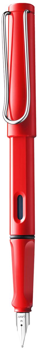 Lamy Ручка перьевая Safari синяя цвет корпуса красный толщина F faisal kawusi hannover