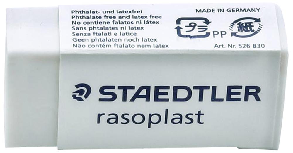 Staedtler Ластик цвет белый525B30Ластик белого цвета в бумажной манжетке без ПВХ, фталата и латекса. При стирании образуется минимальное количество крошек. Упакован в защитную целлофановую упаковку с практичной отрывной лентой. Благодаря скользящей манжетке удобно держать в руке.