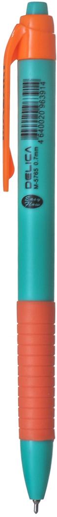 Mazari Ручка шариковая Delica цвет синийМ-5765Ручка шариковая автоматическая Delica, цвет чернил синий, серия Easy Flow, чернила на масляной основе (Германия), пулевидный пишущий узел 0.7мм (Швейцария), корпус пластиковый цветной, с резиновым грипом