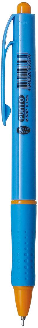 Mazari Ручка шариковая Punto цвет синийМ-5767Ручка шариковая автоматическая Punto, цвет чернил синий, серия Easy Flow, чернила на масляной основе (Германия), пулевидный пишущий узел 0.7мм (Швейцария), корпус пластиковый цветной, с резиновым грипом