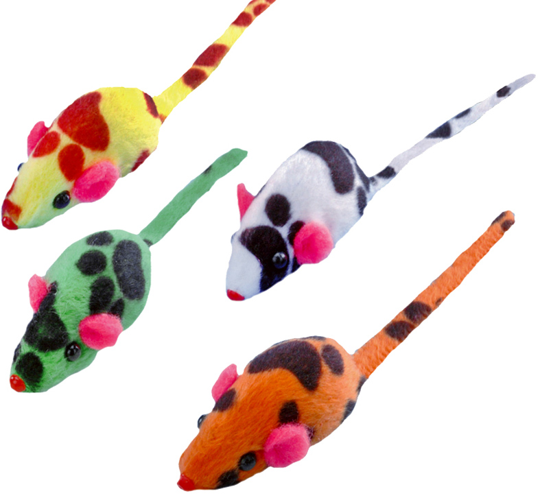 "Набор игрушек для животных Nobby ""Мышка"", 4 см, 4 шт"