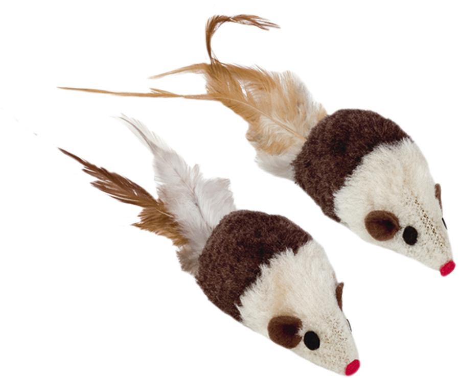 Набор игрушек для животных Nobby Мышка, с запахом кошачьей мяты, 2 шт