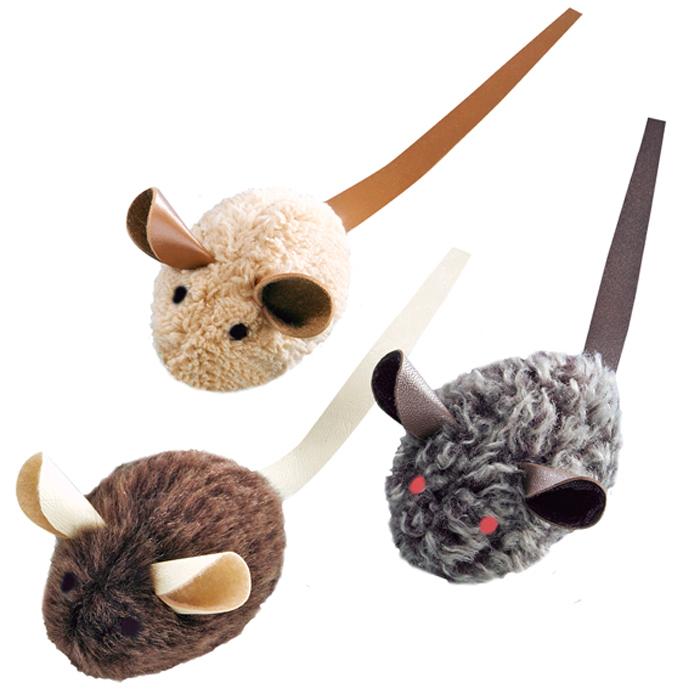 Набор игрушек для животных Nobby Мышка, с запахом кошачьей мяты, 3 шт