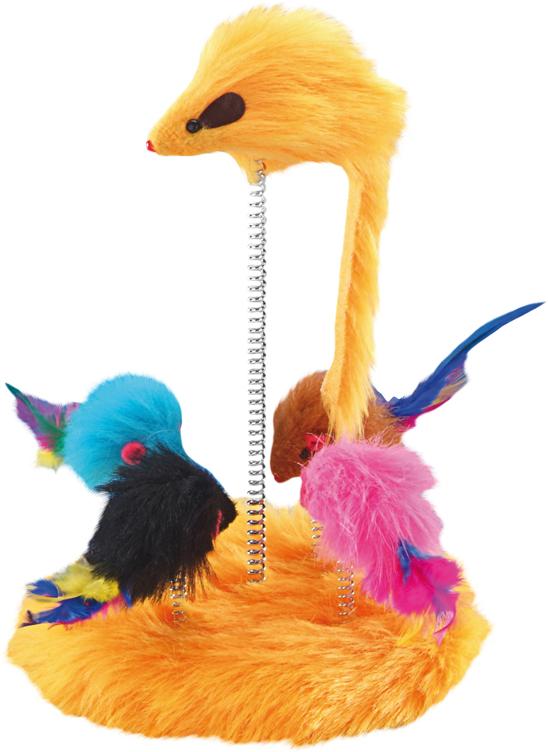 Игрушка для животных Nobby  Мышки , на пружинке, 15 см