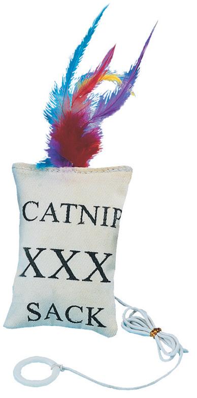 Игрушка для кошек Nobby Подушка, с мятой, длина 9 см