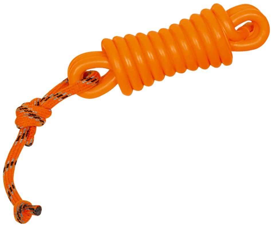 Игрушка для собак Nobby Моток с веревкой, длина 26 см67285Игрушка для собак Nobby Моток с веревкой изготовлена из термопластичной резины, устойчивой к повреждениям. Игрушка поможет занять щенка во время смены зубов, а расшалившаяся взрослая собака не будет грызть мебель, обувь и другие нужные вещи.