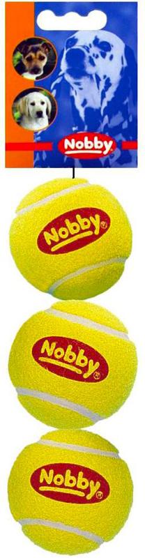 Набор игрушек для животных Nobby Мяч теннисный, диаметр 6 см, 3 шт