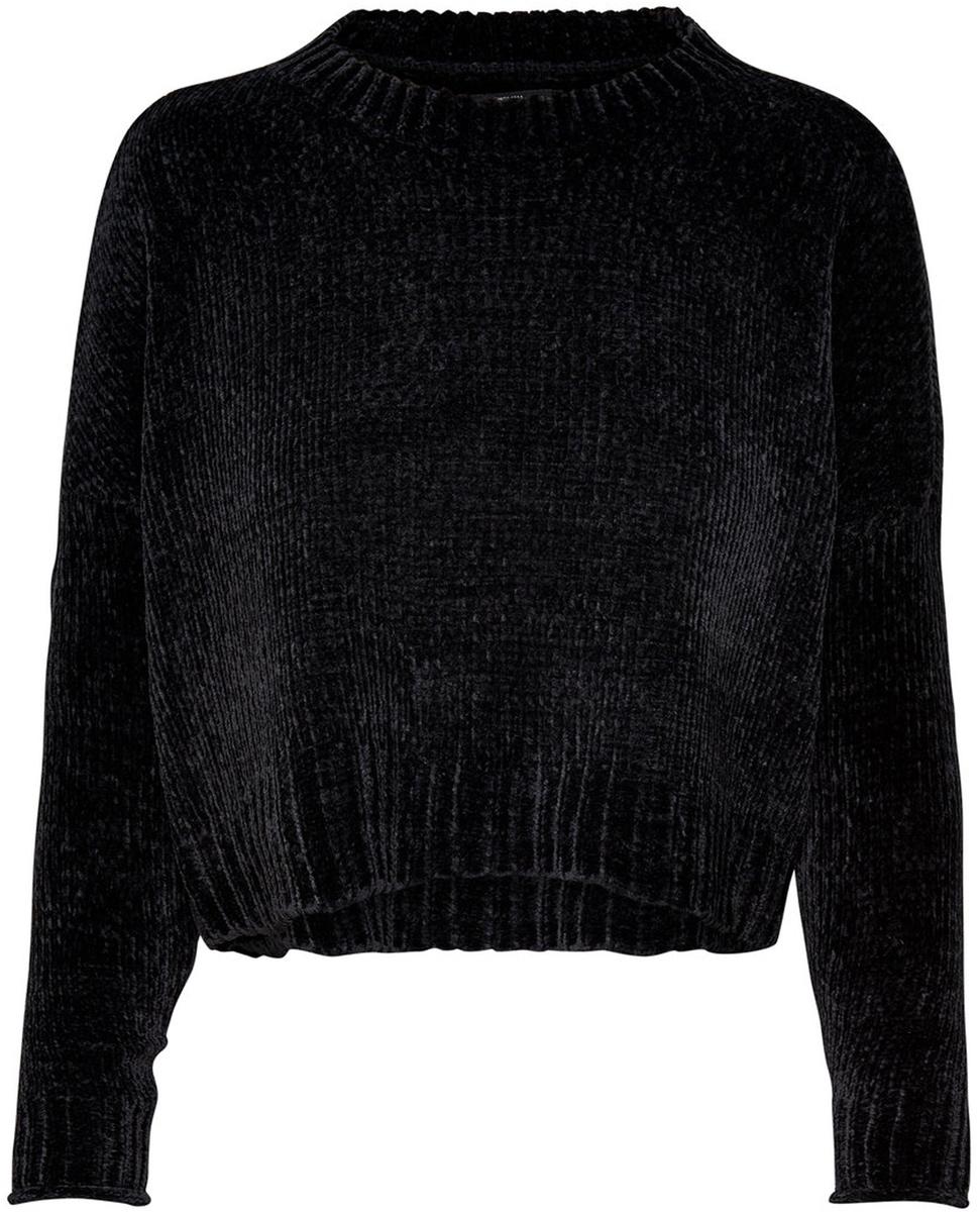 Пуловер женский Only, цвет: черный. 15141692_Black. Размер XS (40/42) платье only цвет черный 15139191 black размер xs 40 42