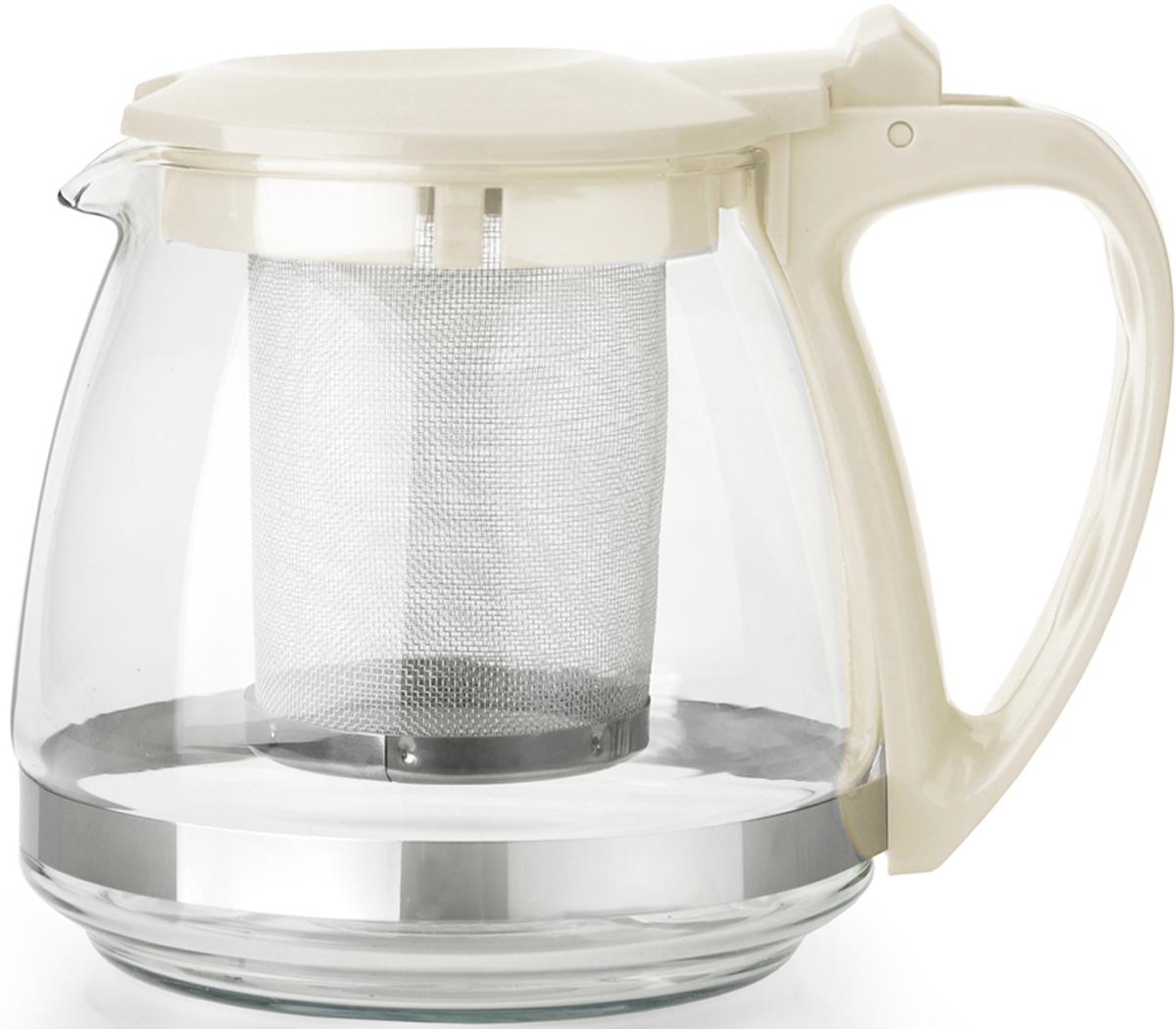 Чайник заварочный Appetite, с фильтром, 0,7 л чайник заварочный bekker koch с фильтром цвет красный 1 25 л