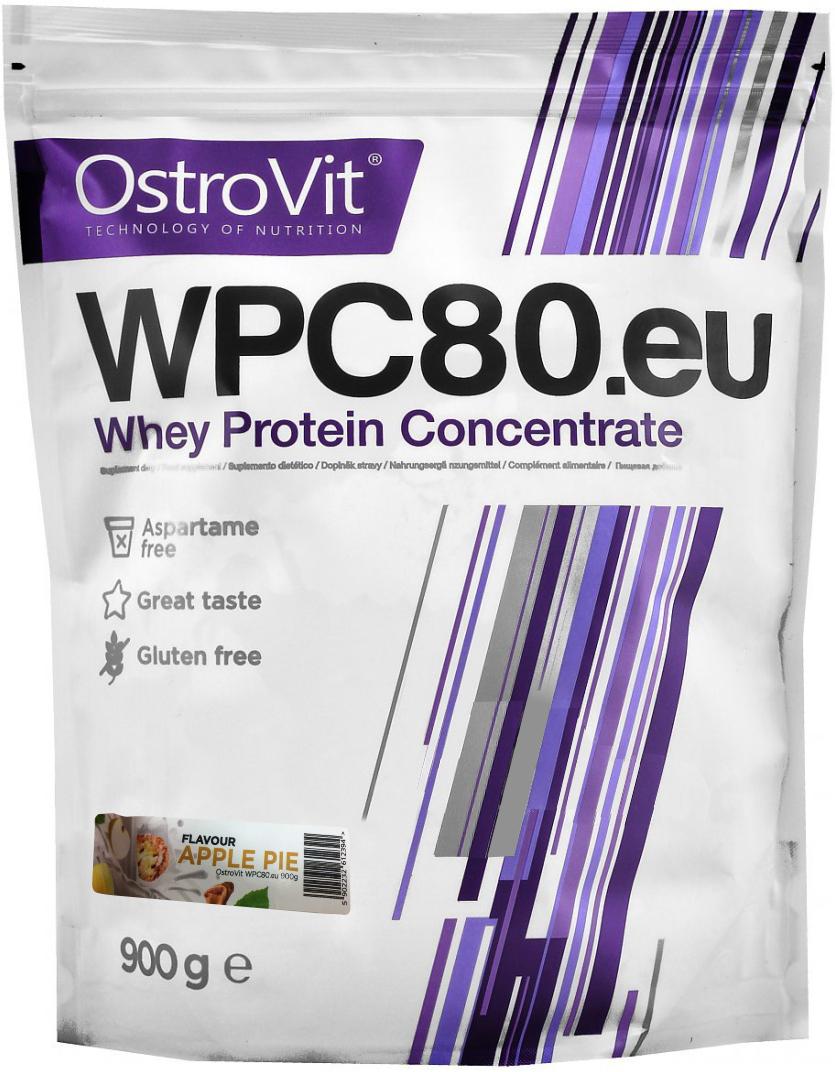Протеин OstroVit WPC80, яблочный пирог, 900 г5902232612394Высококачественный Европейский протеин Ostrovit с Международной сертификацией GMP имеет в составе 80% белка и комплекс незаменимыхаминокислот BCAA и EAA.Состав (1 мерная ложка - 30 г): калории 114 Ккал, белок 23,4 г, жиры 1,8 г, углеводы 4,29 г, натрий 0,225 мг, соль0,14 г. Ингредиенты: концентрат сывороточного белка, полученный путем ультрафильтрации, рапсовый лецитин, сукралоза, подсластитель (экстрактстевии). Как повысить эффективность тренировок с помощьюспортивного питания? Статья OZON Гид