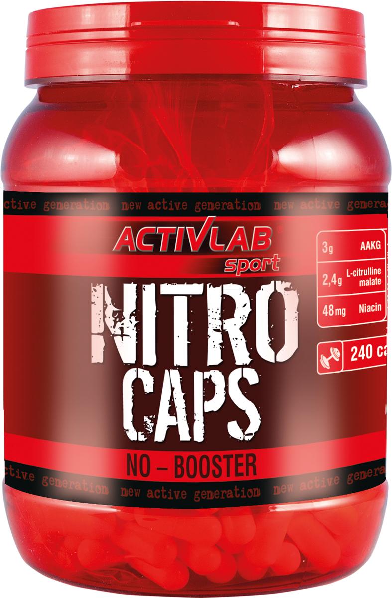 Оксид азота (NO) ActivLab Nitro Caps, 240 капсул5907368855158Nitro Caps (ActivLab) Донатор азота ActivLab Nitro Caps (Спортивное питание Актив Лаб Нитро Капс) основанная на аргинине, предназначенная для быстрой доставки оксида азота NO в мышцы. Сам по себе аргинин имеет свойство синтезироваться в оксид азота, который в свою очередь расширяет кровеносные сосуды. Этот эффект помогает доставить больше крови к мышцам, ну а кровь приносит дополнительный кислород и питательные вещества. Поэтому мышцы могут работать дольше и восстанавливаться быстрее. Состав питательных веществ на 8 капсул: - L-аргинин (AAKG) - 3000 мг - L-цитруллин малат - 2400 мг - Никотиновая кислота - 48 мг Другие ингредиенты: L-аргинин, L-цитруллин малат, крахмал картофельный, E470b, никотиновая кислота, капсула - желатин, краситель Е171. Рекомендации по применению: принимать одну порцию (4 капсулы) два раза в день. Преимущественное время приема - до и после тренировки. Упаковка: 120 капсул.Как повысить эффективность тренировок с помощью спортивного питания? Статья OZON Гид