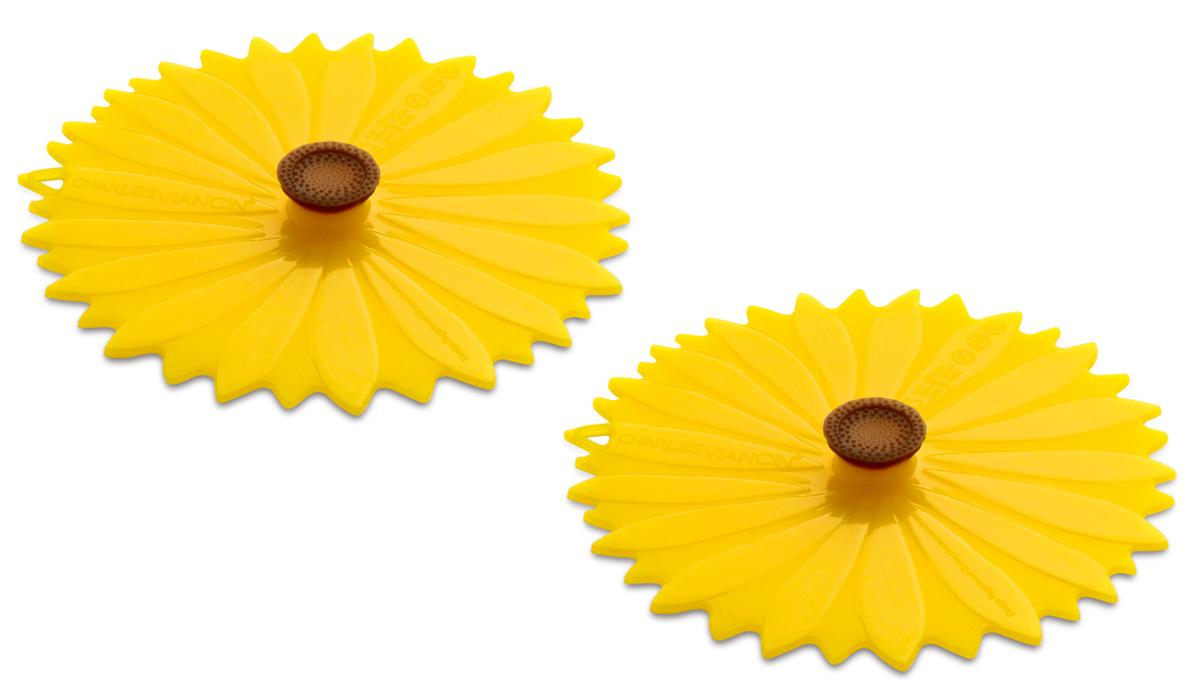 Набор крышек для напитков Charles Viancin Sunflower, 2 шт1105Набор крышек для напитков Charles Viancin Sunflower выполнен из силикона. Крышкагерметична, привлекательна по дизайну и функциональна. Ее можно использовать в процессеприготовления пищи на плите, в микроволновой печи и в духовом шкафу. Подходит дляпосудомоечной машины. Можно использовать в холодильнике. Закроет любую емкость с гладкимободом диаметром до 10 см.