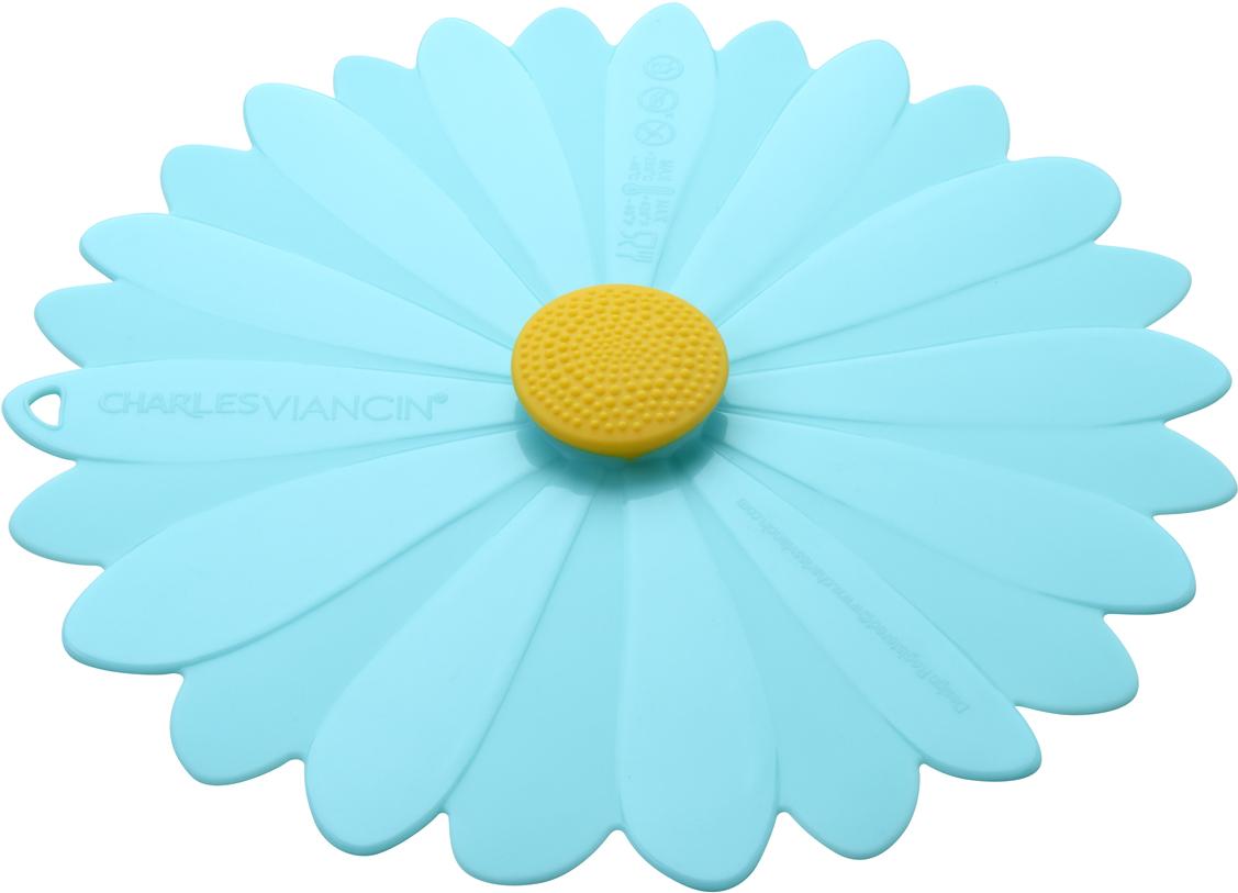 Крышка Charles Viancin Daisy, цвет: голубой. Диаметр 15 см3404Крышка герметична, привлекательна по дизайну и функциональна. Ее можно использовать в процессе приготовления пищи на плите, в микроволновой печи и в духовом шкафу. Подходит для посудомоечной машины. Можно использовать в холодильнике. Закроет любую емкость с гладким ободом.